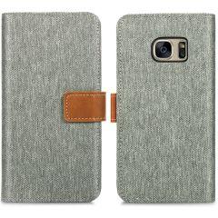 iMoshion Portafoglio Canvas Luxe Samsung Galaxy S7 - Grigio