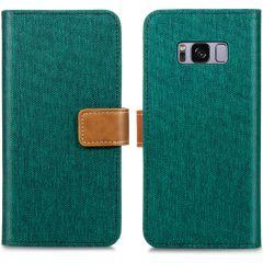 iMoshion Portafoglio Canvas Luxe Samsung Galaxy S8 - Verde