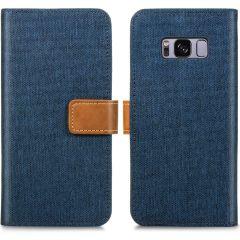 iMoshion Portafoglio Canvas Luxe Samsung Galaxy S8 - Blu scuro