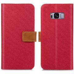 iMoshion Portafoglio Canvas Luxe Samsung Galaxy S8 - Rosso