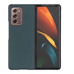 Litchi Shell in Vera Pelle Samsung Galaxy Z Fold2 - Verde