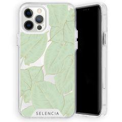 Selencia Zarya Cover Fashion Extra Protettiva iPhone 12 (Pro)  - Gold Green Botanic
