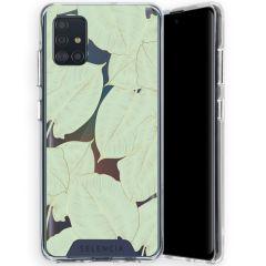 Selencia Zarya Cover Fashion Extra Protettiva Samsung Galaxy A51  - Gold Green Botanic