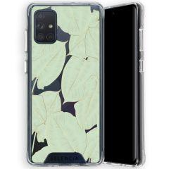 Selencia Zarya Cover Fashion Extra Protettiva Samsung Galaxy A71  - Gold Green Botanic