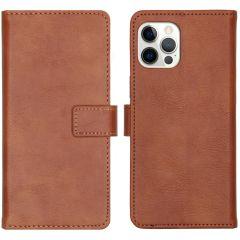 iMoshion Custodia Portafoglio de Luxe iPhone 12 (Pro) - Marrone