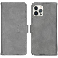 iMoshion Custodia Portafoglio de Luxe iPhone 12 (Pro) - Grigio