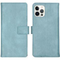 iMoshion Custodia Portafoglio de Luxe iPhone 12 (Pro) - Azzurro
