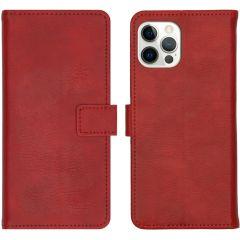 iMoshion Custodia Portafoglio de Luxe iPhone 12 (Pro) - Rosso