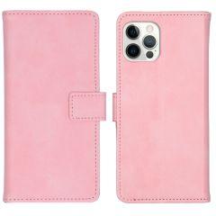 iMoshion Custodia Portafoglio de Luxe iPhone 12 (Pro) - Rosa