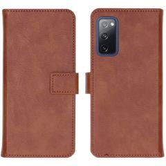 iMoshion Custodia Portafoglio de Luxe Samsung Galaxy S20 FE - Marrone