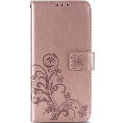 Custodia Portafoglio Fiori di Trifoglio Samsung Galaxy A42 - Rosa