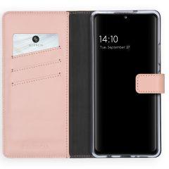 Selencia Custodia Portafoglio in Vera Pelle Samsung Galaxy A42 - Rosa