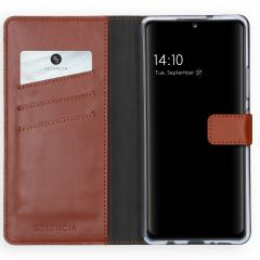 Selencia Custodia Portafoglio in Vera Pelle Samsung Galaxy A42 - Marrone chiaro