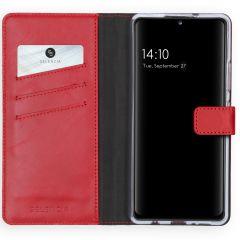 Selencia Custodia Portafoglio in Vera Pelle Samsung Galaxy A42 - Rosso