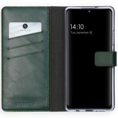 Selencia Custodia Portafoglio in Vera Pelle Samsung Galaxy A42 - Verde