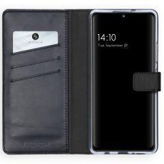 Selencia Custodia Portafoglio in Vera Pelle Samsung Galaxy A42 - Nero