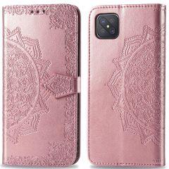 iMoshion Custodia Portafoglio Mandala Oppo Reno4 Z 5G - Rosa oro