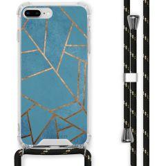 iMoshion Cover Design con Cordino iPhone 8 Plus / 7 Plus - Blue Graphic