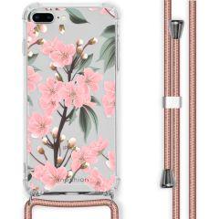 iMoshion Cover Design con Cordino iPhone 8 Plus / 7 Plus - Cherry Blossom