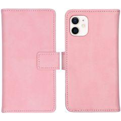 iMoshion Custodia Portafoglio de Luxe iPhone 12 Mini - Rosa