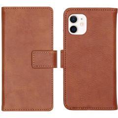 iMoshion Custodia Portafoglio de Luxe iPhone 12 Mini - Marrone