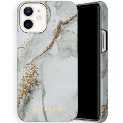 Selencia Maya Cover Fashion iPhone 12 Mini - Marble Stone