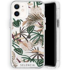 Selencia Zarya Cover Fashion Extra Protettiva iPhone 12 Mini - Jungle Leaves