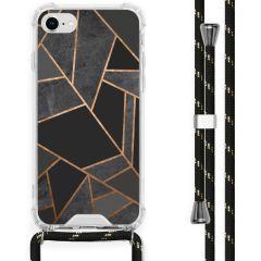 iMoshion Cover Design con Cordino iPhone SE (2020) / 8 / 7 - Black Graphic