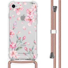 iMoshion Cover Design con Cordino iPhone SE (2020) / 8 / 7 - Blossom Watercolor