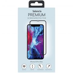 Selencia Pellicola Protettiva Premium in Vetro Temperato iPhone 12 Pro Max - Nero