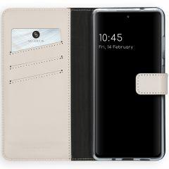 Selencia Custodia Portafoglio in Vera Pelle Samsung Galaxy S20 FE - Grigio chiaro
