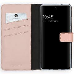 Selencia Custodia Portafoglio in Vera Pelle Samsung Galaxy S20 FE - Rosa