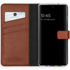 Selencia Custodia Portafoglio in Vera Pelle Samsung Galaxy S20 FE - Marrone chiaro