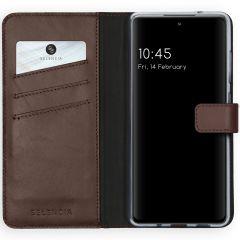 Selencia Custodia Portafoglio in Vera Pelle Samsung Galaxy S20 FE - Marrone