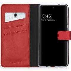Selencia Custodia Portafoglio in Vera Pelle Samsung Galaxy S20 FE - Rosso