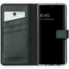 Selencia Custodia Portafoglio in Vera Pelle Samsung Galaxy S20 FE - Verde