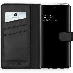 Selencia Custodia Portafoglio in Vera Pelle Samsung Galaxy S20 FE - Nero