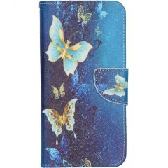 Custodia Portafoglio Flessibile Samsung Galaxy A10 - Blue Butterfly