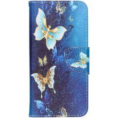 Custodia Portafoglio Flessibile Samung Galaxy A20e - Blue Butterfly