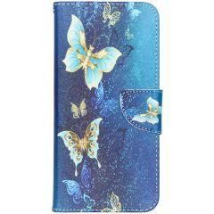Custodia Portafoglio Flessibile Samsung Galaxy A70 - Blue Butterfly