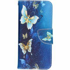 Custodia Portafoglio Flessibile Samsung Galaxy S8 - Blue Butterfly
