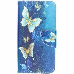 Custodia Portafoglio Flessibile Samsung Galaxy S10e - Blue Butterfly