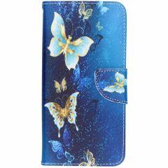Custodia Portafoglio Flessibile Samsung Galaxy J6 Plus - Blue Butterfly