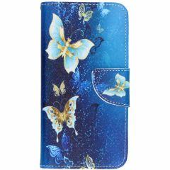 Custodia Portafoglio Flessibile Huawei P20 Lite - Blue Butterfly