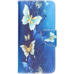 Custodia Portafoglio Flessibile Huawei P30 - Blue Butterfly