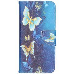 Custodia Portafoglio Flessibile Huawei Y6 (2019) / Y6S - Blue Butterfly