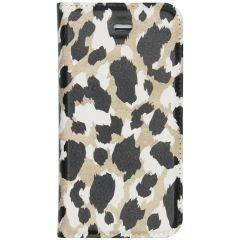 Custodia Portafoglio Design  iPhone SE / 5 / 5s - Panther Black / Gold