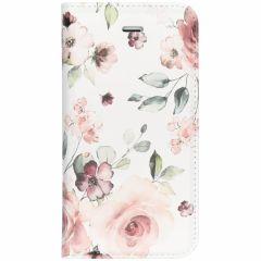 Custodia Portafoglio Design  iPhone SE / 5 / 5s - Pink Flower