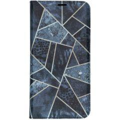 Custodia Portafoglio Design  Samsung Galaxy A10 - Blauw grafisch design