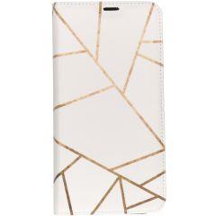 Custodia Portafoglio Design  Samsung Galaxy A10 - White Graphic
